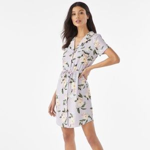 JustFab Orchid Petal Summer Shirt Dress